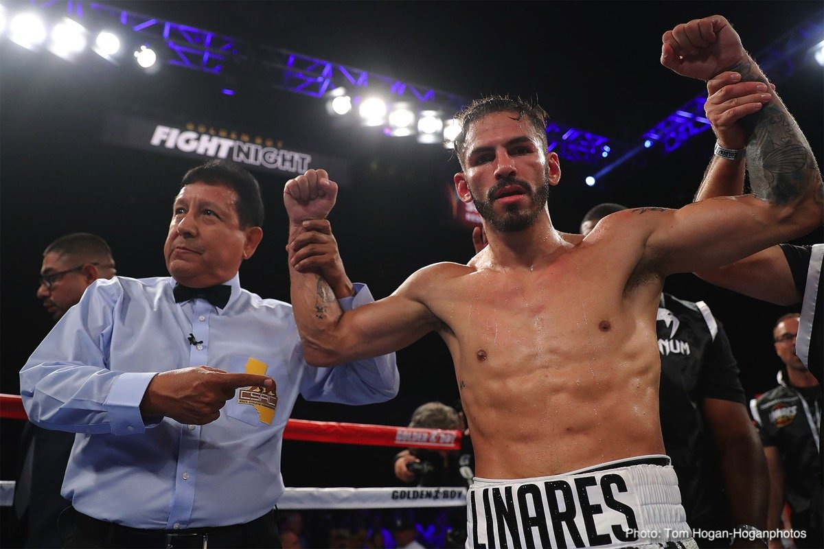 Abner Cotto - Former three division world champion Jorge Linares (45-4, 28 KOs) made quick work of an over-matched Abner Cotto (23-4, 12 KOs) in destroying him in a third round knockout on Saturday night at antasy Springs Casino in Indio, California.