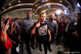 """Gennady Golovkin, Saul """"Canelo"""" Alvarez - Lineal Middleweight World Champion Canelo Alvarez (49-1-2, 34 KOs) and WBC/WBA/IBO Middleweight Champion Gennady """"GGG"""" Golovkin (38-0-1, 34 KOs) made their grand arrivals today at the MGM Grand Resort and Casino in Las Vegas ahead of their highly anticipated rematch on Sept. 15 at T-Mobile Arena,  produced and distributed live by HBO Pay-Per-View® beginning at the special time of 8:00 p.m. ET/5:00 p.m. PT."""