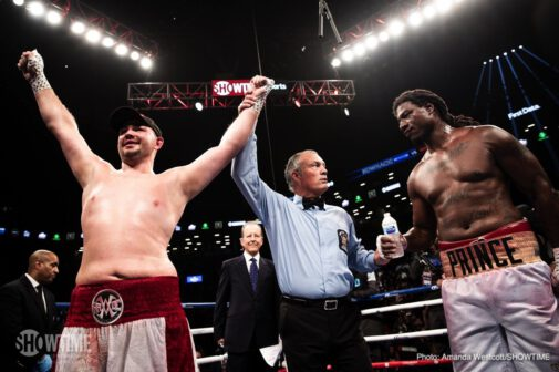 Adam Kownacki - Heavyweights Adam Kownacki and Charles Martin gave us a great fun fight on last night's Porter-Garcia card – the kind of wild, at times sloppy slugfest fans can warm to. Polish warrior Kownacki, a man who barrels forward and slings out leather with seeming abandon, adopted his 'as advertised,' 'what you see is what you get' approach against Martin, and though he had a rough patch in rounds-seven and eight, when fatigue set in, the approach worked for the 29 year old. Again. Don't ever expect to see Kownacki box like a polished, slick pro, but expect guaranteed value for money each and every time he does rumble.