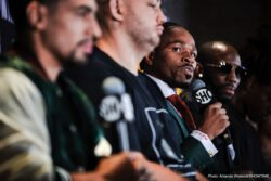 Danny Garcia, Shawn Porter - Welterweight stars Danny Garcia and Shawn Porter went face-to-face Thursday at the final press conference before they battle for the vacant WBC Welterweight World Championship this Saturday, September 8 live on SHOWTIME from Barclays Center, the home of BROOKLYN BOXING™ and presented by Premier Boxing Champions.