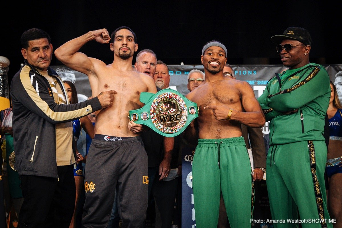 Danny Garcia, Shawn Porter - SHOWTIME Sports will provide live streams of official fight week events in advance of this Saturday's WBC Welterweight World Championship between former champions Danny Garcia (34-1, 20 KOs) and Shawn Porter (28-2-1 17 KOs). The three-fight telecast airs live on SHOWTIME from Barclays Center in Brooklyn at 9 p.m. ET/6 p.m. PT.