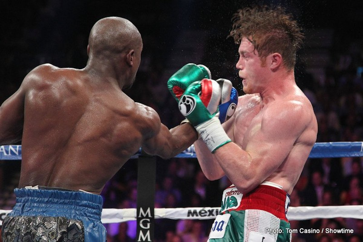 Canelo Alvarez, Floyd Mayweather Jr - It was seven years ago today when Canelo Alvarez fought and lost the biggest fight of his career. Schooled by Floyd Mayweather, who put on a masterclass, Canelo was down in the dumps after losing the decision (crazily only a majority decision, this thanks to some unfathomable scoring by one judge who somehow had the fight a draw), yet in time he would bounce back in fine style.