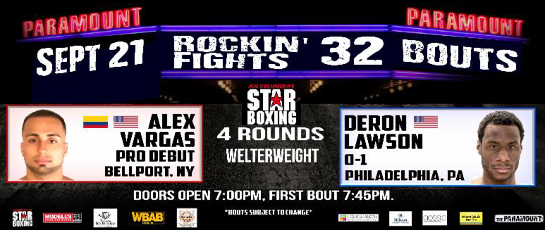 -  About seventeen years ago you could have found Bellport, Long Island's now 23-year-old, Alex Vargas at any one of local boxing clubs eagerly working on his new-found love boxing.