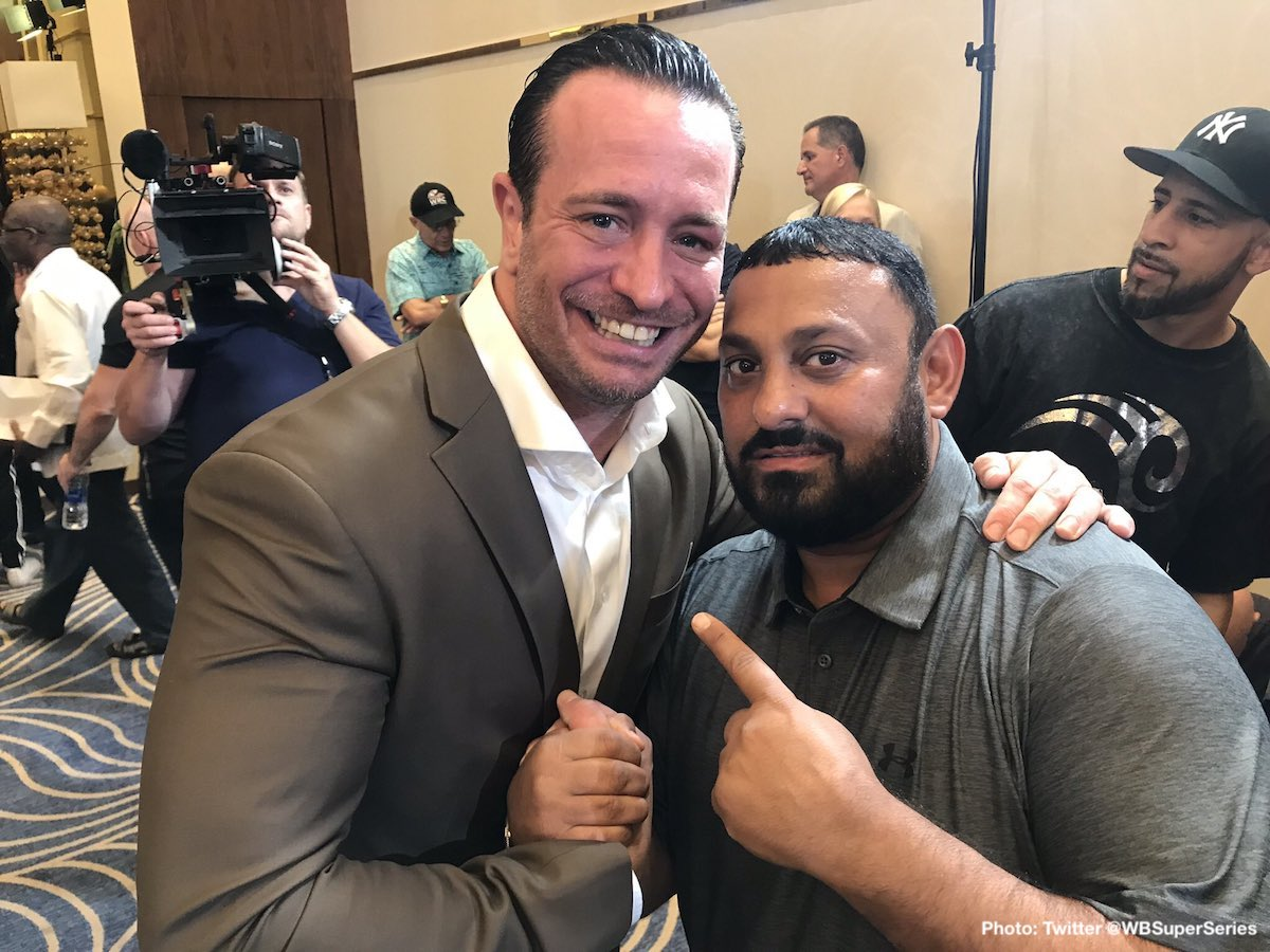 "Naseem Hamed - Currently a guest of honour in Saudi Arabia, for tonight's WBSS super-middleweight final between George Groves and Callum Smith, former featherweight king, ""Prince"" Naseem Hamed says the fact that Saudi Arabia has finally opened its arms and embraced world championship boxing could mean big things for the future in the Middle East."