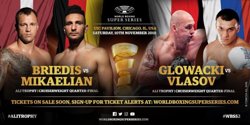 Noel Mikaelian - Season I star Mairis Briedis vs. Noel Mikaelian and Krzysztof Glowacki vs. Maksim Vlasov are the two Quarter-Finals on an incredible doubleheader when the World Boxing Super Series comes to the UIC Pavilion in Chicago, USA.