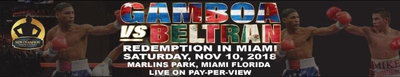 Yuriorkis Gamboa, Juanma Lopez To Co-Headline in Miami In November