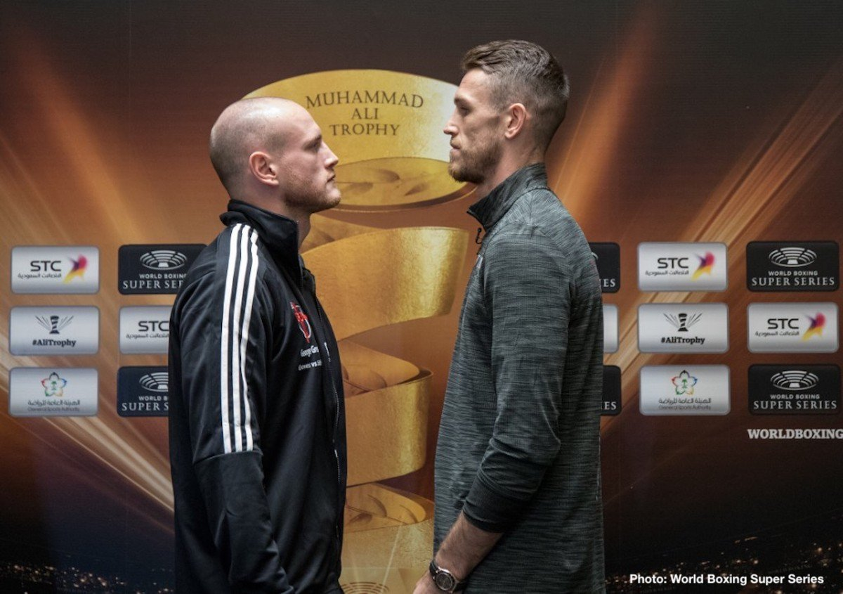 Callum Smith, George Groves - George Groves and Callum Smith both made weight today ahead of their historic Ali Trophy Super Middleweight Final tomorrow night at the King Abdullah Sports City in Jeddah, Saudi Arabia.