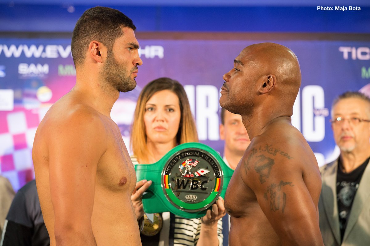 Amir Mansour, Filip Hrgovic - Croatian heavyweight sensation Filip Hrgović (5-0, 4 KOs) and his opponent Amir Mansour (23-2-1, 16 KOs) weighed in today ahead of their WBC International Championship clash tomorrow night at the Arena Zagreb in Croatia.