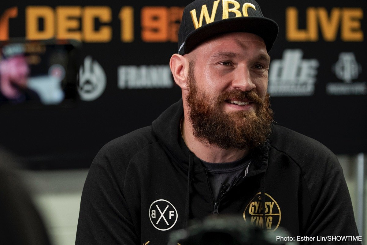 Anthony Joshua, Deontay Wilder, Tyson Fury - It's not like Tyson Fury to be brimming full with confidence, is it! Fury, just days away from his big, must-win fight with WBC heavyweight champ Deontay Wilder, is sure enough that he will win he has already laid down the terms he wants, is demanding, for a monstrously big unification fight with Anthony Joshua.