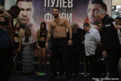 Hughie Fury, Kubrat Pulev - Weights: Kubrat Pulev 240.5 vs. Hughey Fury 236