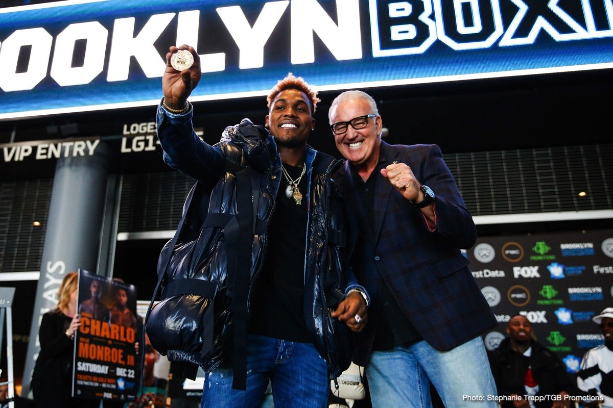 Jermall Charlo, Jermell Charlo, Tony Harrison, Willie Monroe Jr. -  Twin brothers and world champions Jermall Charlo and Jermell Charlo took part in a press conference in Brooklyn Thursday to announce their fights that kick off a new season of Premier Boxing Champions on FOX and FOX Deportes live in primetime on Saturday, December 22 at Barclays Center, the home of BROOKLYN BOXING™.