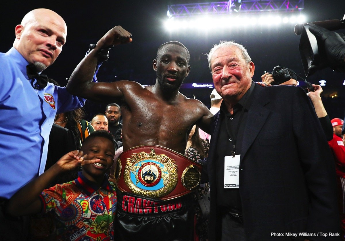 """Amir Khan, Terence Crawford -  ESPN and Top Rank today announced their first pay-per-view event under the Top Rank on ESPN banner. Two kings are set for the year's most anticipated welterweight showdown when pound-for-pound king Terence """"Bud"""" Crawford puts his WBO welterweight world title on the line against former unified 140-pound champion and the pride of Bolton, England, Amir """"King"""" Khan, on Saturday, April 20, live on pay-per-view at 9 p.m. ET/ 6 p.m. PT. Details on how fans will be able to access the pay-per-view event will be announced at a later date."""