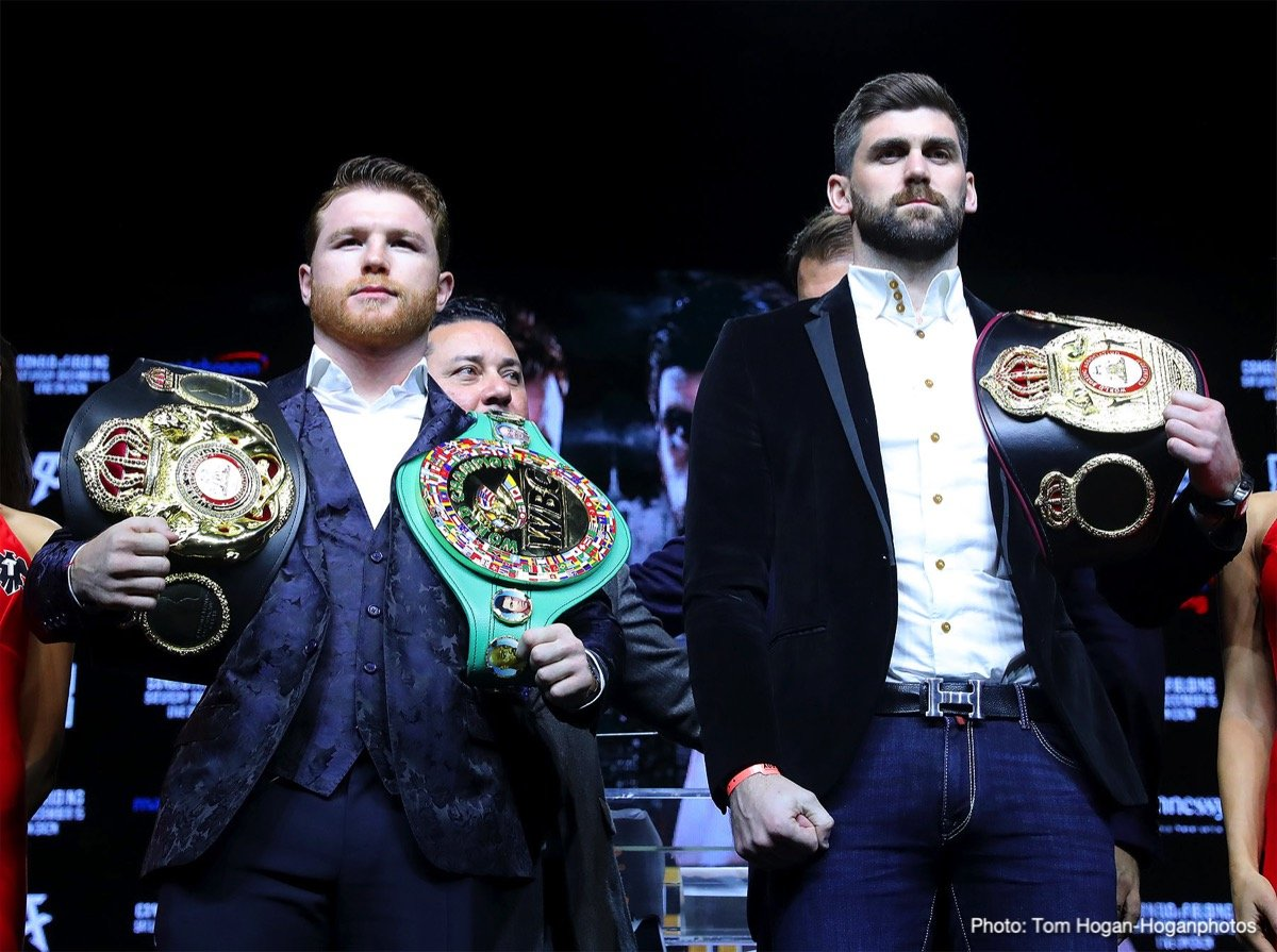 """Rocky Fielding, Saul """"Canelo"""" Alvarez - Canelo Alvarez (50-1-2, 34 KOs) – the undisputed king of pay-per-view boxing – will usher in a new era in the sport by signing an 11-fight deal with global sports streaming leader DAZN. The journey begins Saturday, Dec. 15 when Canelo makes his first appearance at the historic Madison Square Garden challenging Rocky Fielding (27-1, 15 KOs) for his WBA Super Middleweight World Title. This groundbreaking deal with Canelo will be the richest athlete contract in sports history."""