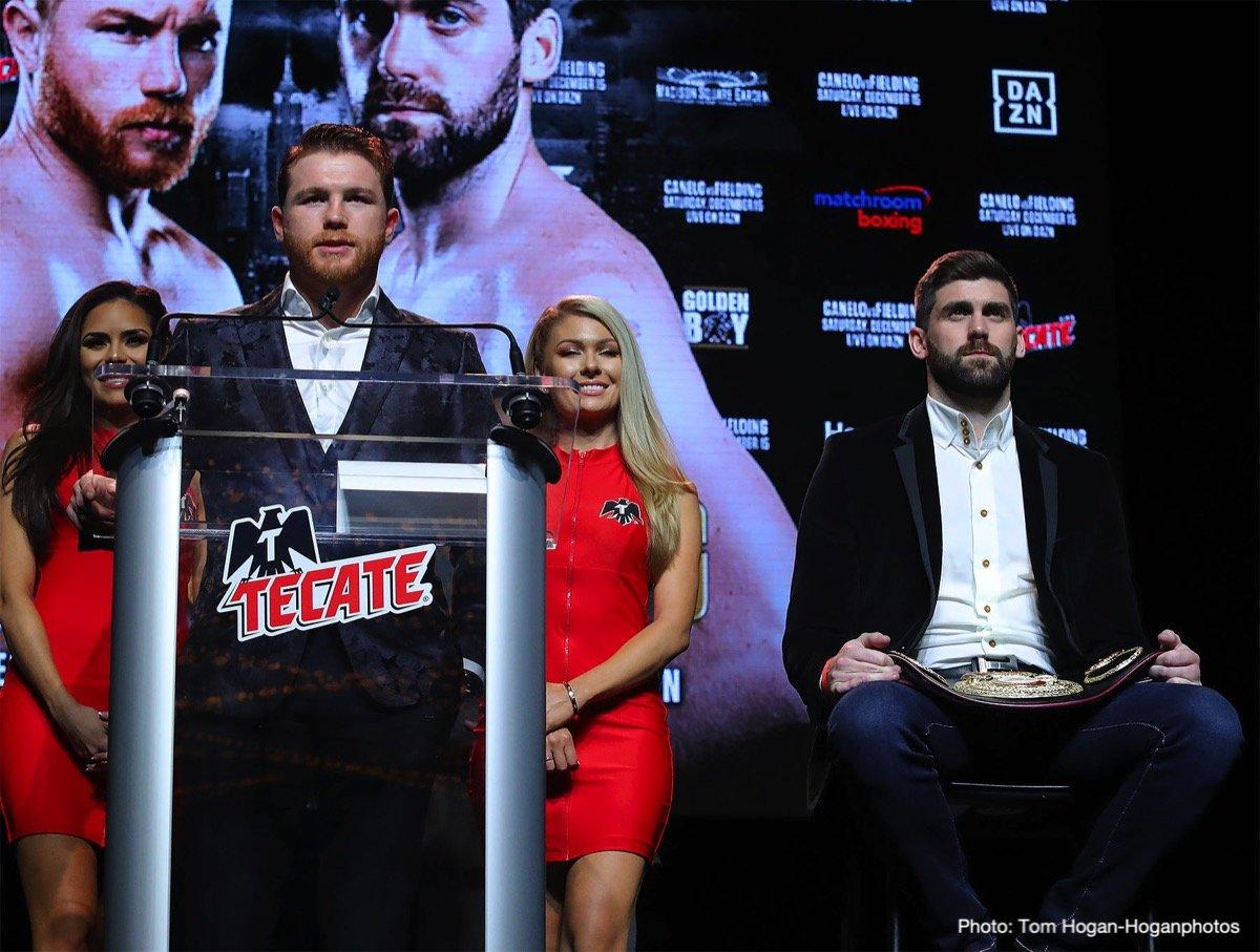"Rocky Fielding Saul ""Canelo"" Alvarez Boxing News"