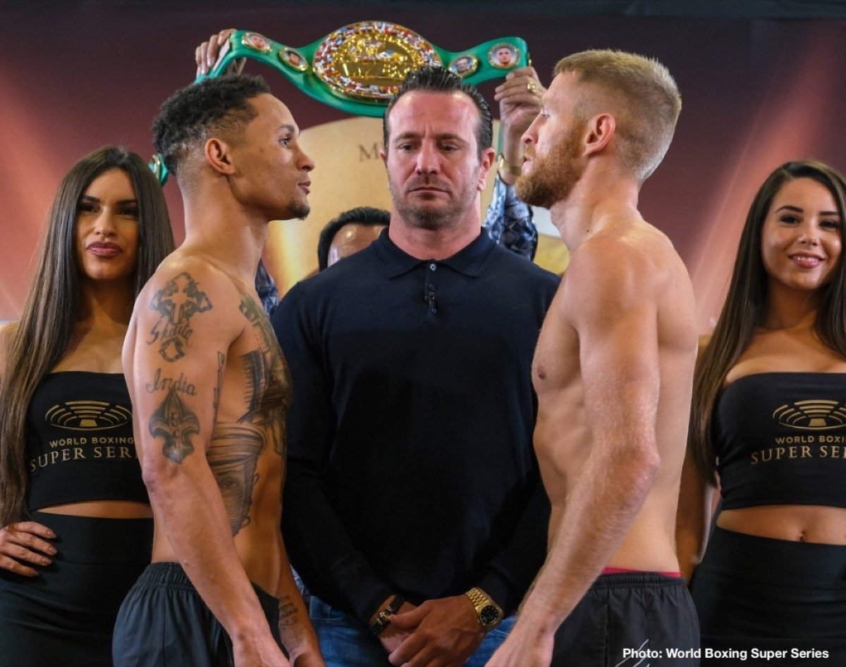 "Anthony Yigit, Ivan Baranchyk, Regis ""Rougarou"" Prograis, Terry Flanagan - Regis Prograis & Terry Flanagan and Ivan Baranchyk & Anthony Yigit all make weight ahead of Saturday's Ali Trophy Quarter-Finals at UNO Lakefront Arena in New Orleans."