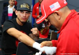 """Jose Benavidez Jr., Terence Crawford - Terence Crawford is excited to be back in Omaha, his beloved hometown and the site of many of his greatest fistic moments. The man nicknamed """"Bud"""" will defend his WBO welterweight world title Saturday evening against Jose Benavidez Jr. at the CHI Health Center Omaha (formerly the CenturyLink Center), live on ESPN and ESPN Deportes beginning at 10:30 p.m. ET. His four CHI Health Center outings have drawn nearly 45,000 fans, and another packed house is expected."""