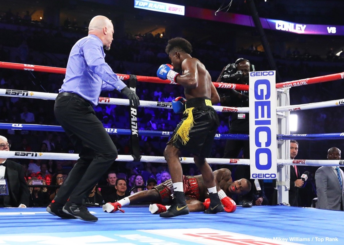 "Jose Benavidez Jr., Shakur Stevenson, Terence Crawford - The crowd roared in anticipation and the native son, Terence ""Bud"" Crawford, delivered. Crawford (34-0, 25 KOs), following a contentious pre-fight buildup, defeated Jose Benavidez Jr. by 12th-round TKO to defend his WBO welterweight world title in front of 13,323 fans at the CHI Health Center Omaha."