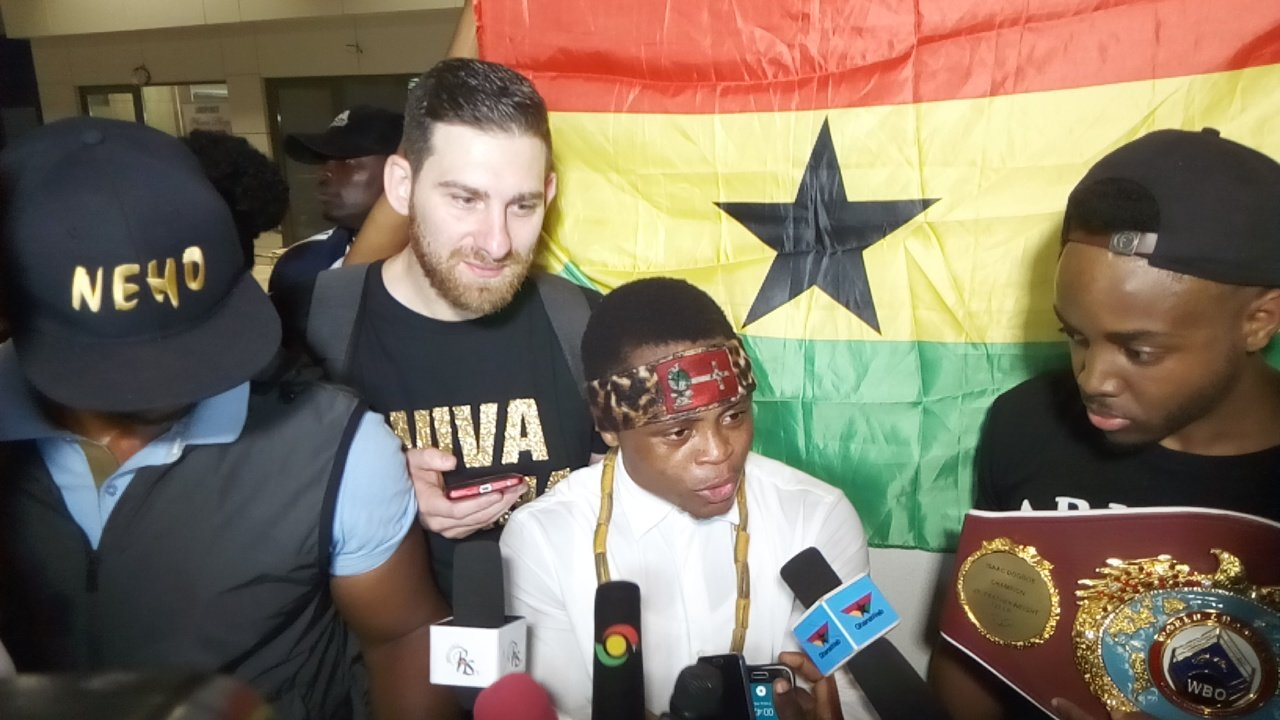 WBO world champ Isaac Dogboe returns to rousing welcome in Accra, confirms admission to Penn State University