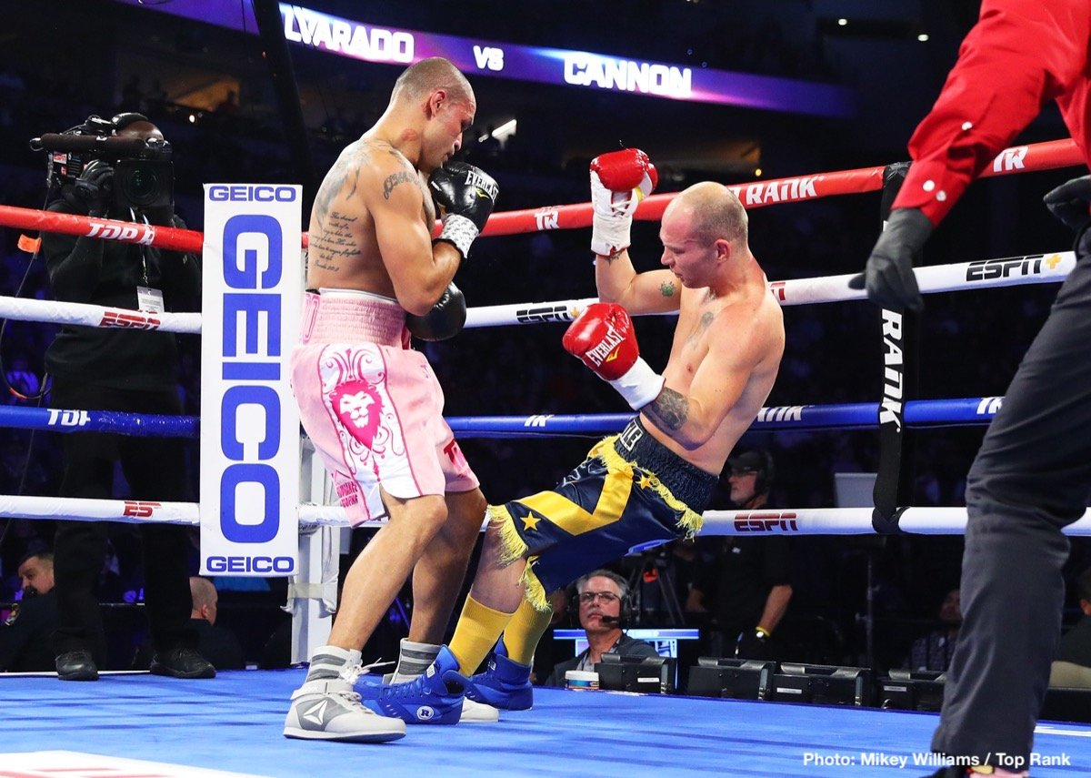 "Mike Alvarado - ""Mile High"" might still have a few miles on the clock yet. Certainly former WBO 140 pound champ Mike Alvarado will always have a puncher's chance in pretty much any fight. Though he was in with a journeyman last night on the Crawford-Benavidez card – Alvarado matched with the fun-nicknamed Robbie ""The Pea Shooter"" Cannon – Alvardo sent his fans home happy."