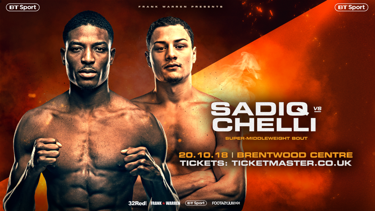 Umar Sadiq - UMAR SADIQ only affords his next opponent, Zak Chelli, a puncher's chance when the two unbeaten super middleweights come together in what should be a fascinating match-up at the Brentwood Centre next Saturday (October 20).
