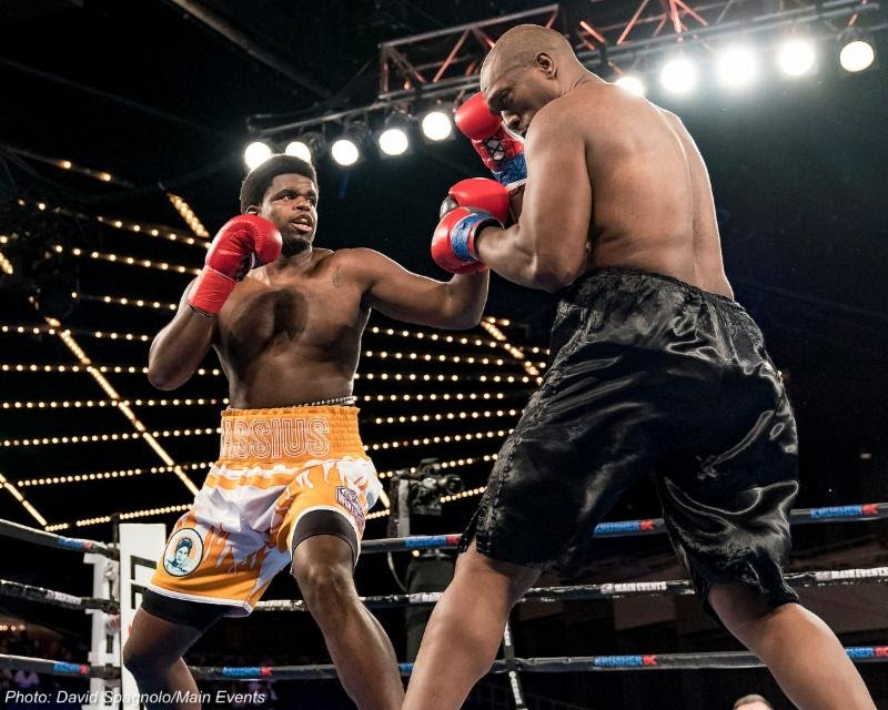 "Cassius Chaney, Sullivan Barrera - Undefeated heavyweight prospect Cassius Chaney has re-upped with his long-time promoter Main Events. Now 13-0 with 7 KOs, Chaney signed with the Totowa, New Jersey-based promoter before making his pro debut on April 17, 2015. His next bout, the first under his new promotional contract, will be streamed live as part of the November 3 edition of the Golden Boy Fight Night series on Facebook from The Aviator in Brooklyn, which will be headlined by Sullivan Barrera versus ""Irish"" Seanie Monaghan."