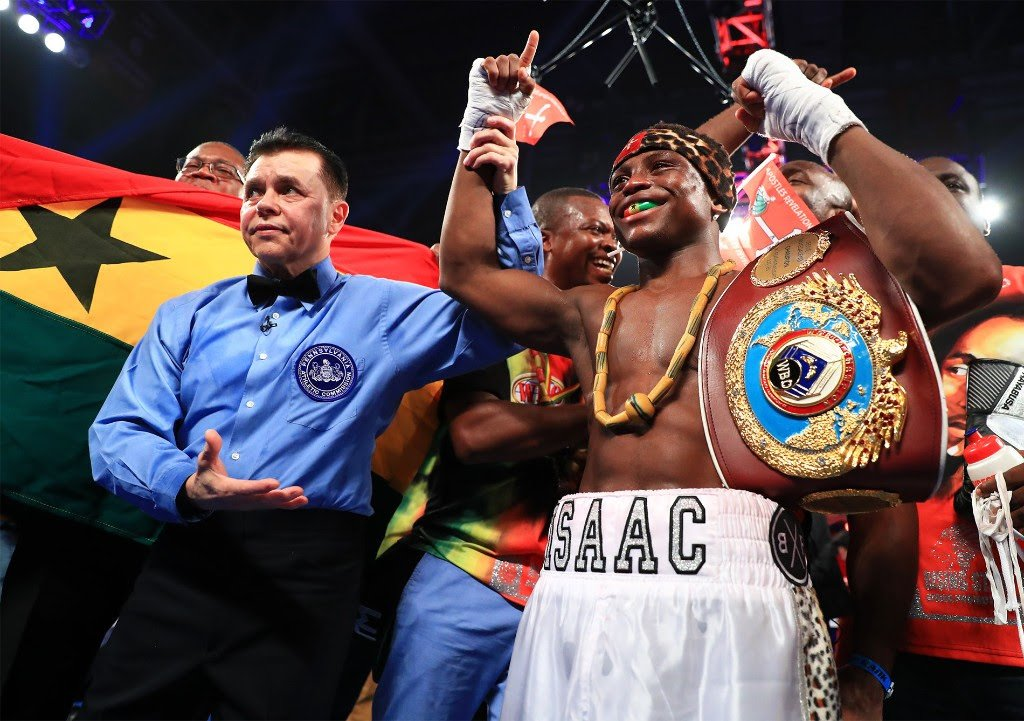 """Emanuel Navarrete - The Royal Storm is in a New York state of mind. Isaac """"Royal Storm"""" Dogboe will make the second defense of his WBO junior featherweight title against the hard-hitting Emanuel Navarrete as the co-feature to the previously announced Vasiliy Lomachenko-Jose Pedraza lightweight unification bout at the Hulu Theater at Madison Square Garden."""