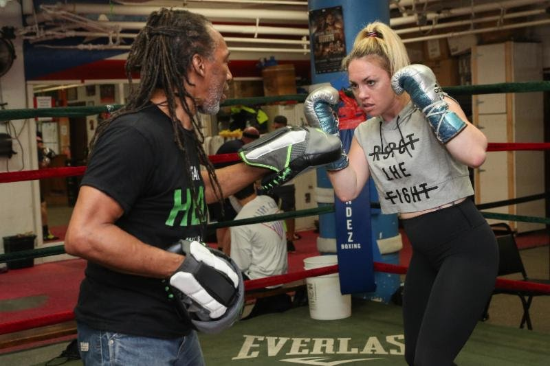 "Featherweight contender Heather ""The Heat"" Hardy (21-0, 4 KOs), of Brooklyn, NY, held a media workout for the New York City press on Wednesday afternoon leading up to her highly anticipated 10-round rematch against rival Shelly ""Shelito's Way"" Vincent (23-1, 1 KO), of Providence, RI, for the vacant WBO Women's Featherweight World Title on Saturday, October 27."