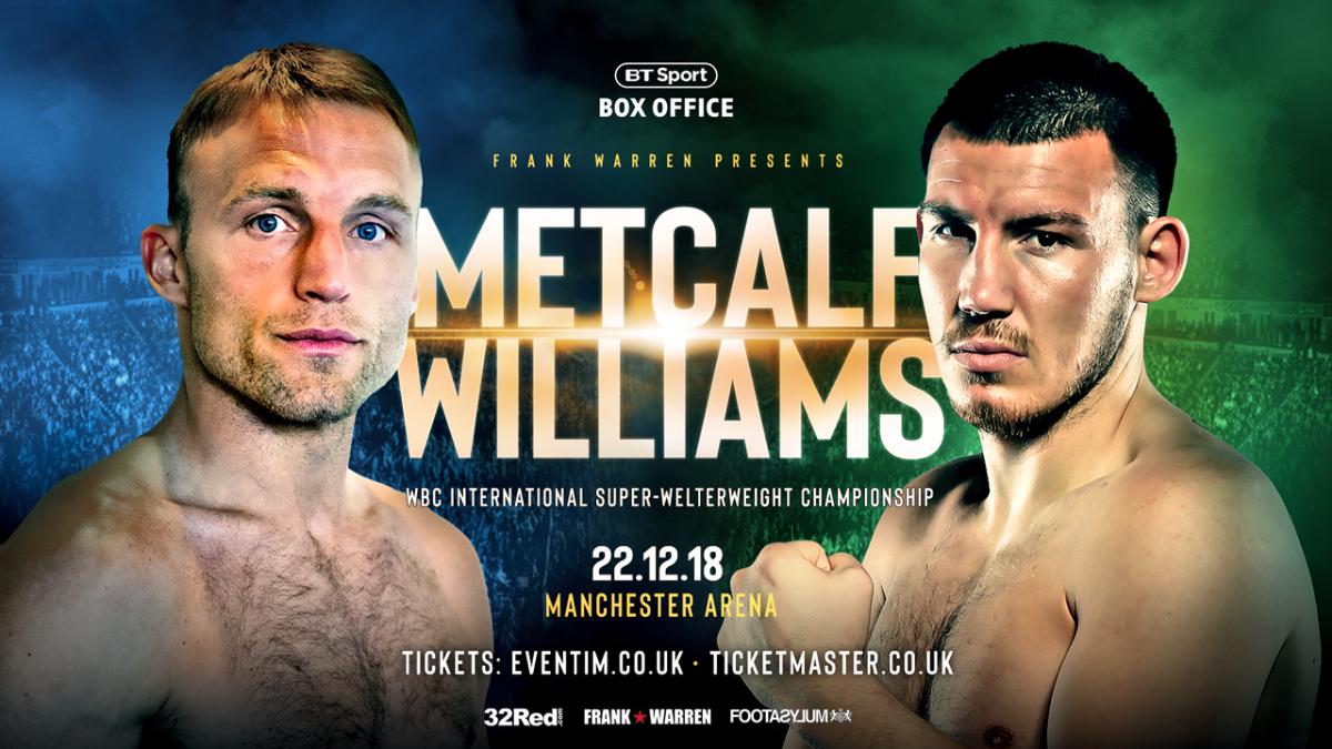 JJ Metcalf Liam Williams British Boxing Press Room