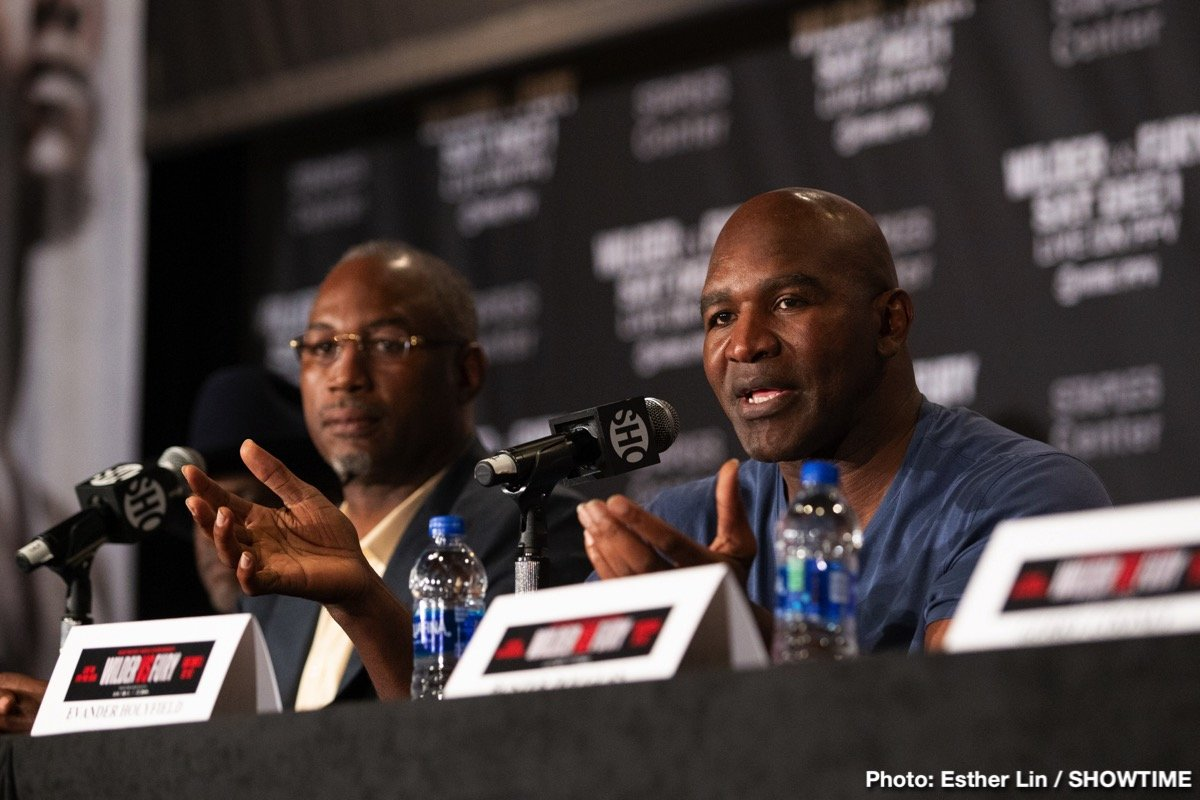 "Evander Holyfield, Mike Tyson - No sooner had Mike Tyson announced his intention of returning to the ring to ""do some exhibitions for charities and stuff,"" did Evander Holyfield join his former rival and show his desire to do something similar. In fact, when that short video clip of Tyson, looking in great shape hitting the pads, went out, the world went crazy. All manner of fighters called out Tyson."
