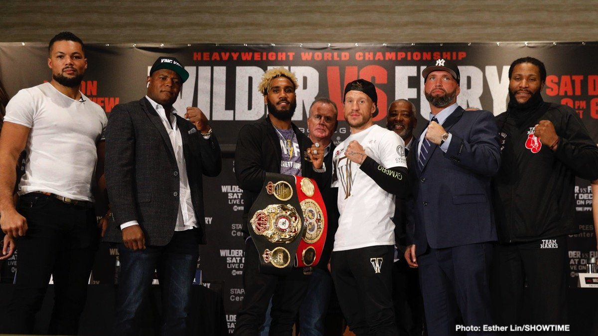 Deontay Wilder Jarrett Hurd Jason Welborn Joe Hanks Joe Joyce Travis Kauffman Tyson Fury Boxing News