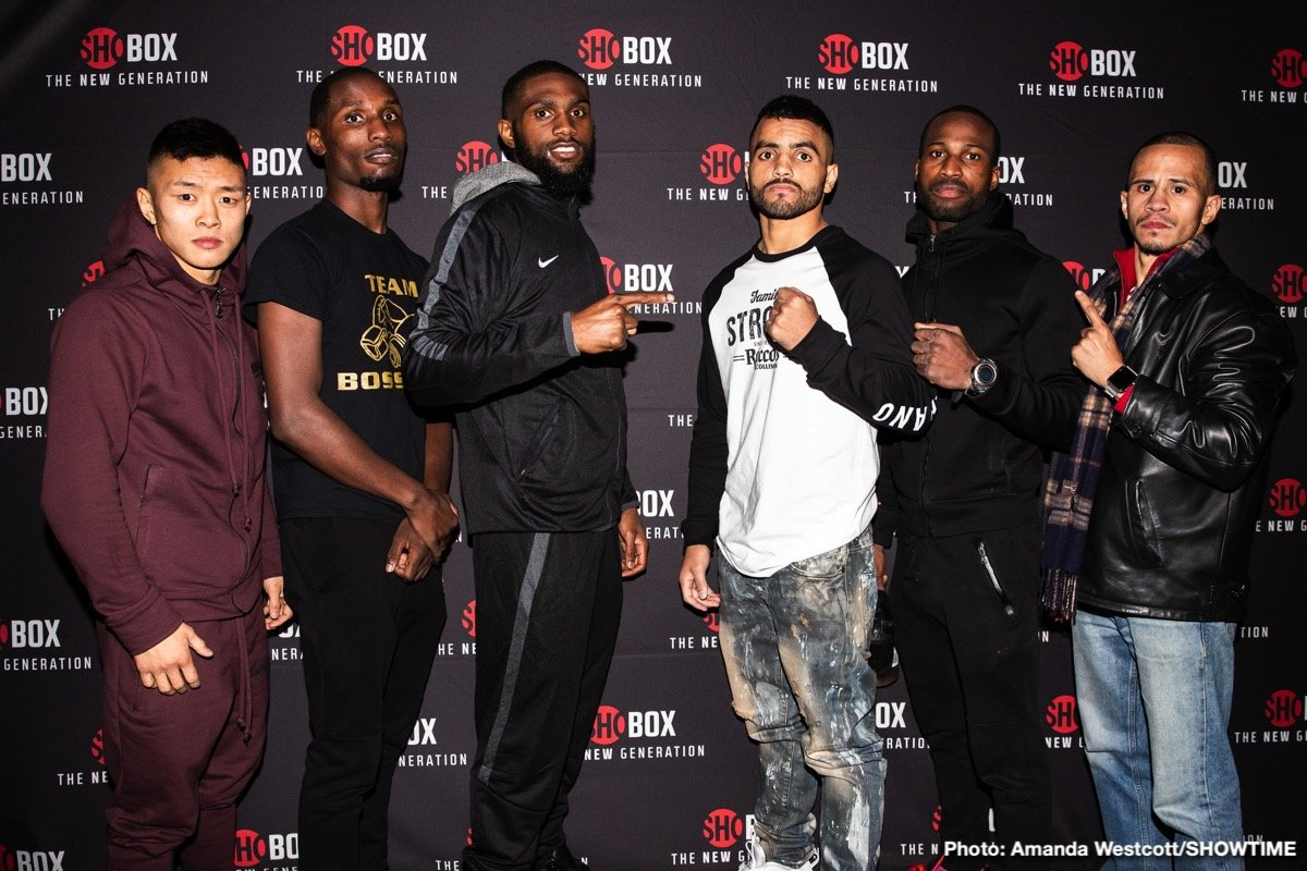 One of boxing's top prospects, undefeated welterweight Jaron Ennis and veteran Raymond Serrano made weight just a day before their ShoBox: The New Generation 10-round main event that headlines a tripleheader live on SHOWTIME (9:35 p.m. ET/PT) from 2300 Arena in Philadelphia. The 21-year-old Ennis (21-0, 19 KOs) returns for his second ShoBox challenge of 2018 against Serrano (24-5, 10 KOs) in a battle of Philadelphia fighters facing off in their hometown.
