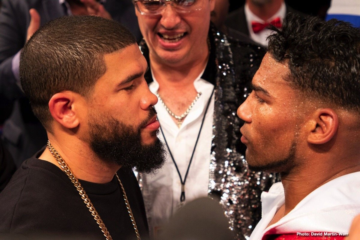 JuanMa Lopez, Yuriorkis Gamboa - Last night in Miami, veteran former champions Yuriorkis Gamboa and Juan Manuel Lopez scored wins that set up a March/April clash between the Cuban and the Puerto Rican. Gamboa pitched a shut-out decision win over Miguel Beltran, while Lopez won a wide ten-round decision of his own, over Christian Mino.