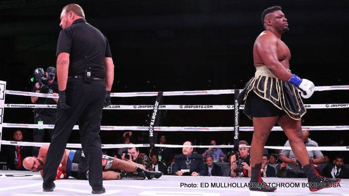 "Bogdan Dinu, Jarrell ""Big Baby"" Miller - Jarrell ""Big Baby"" Miller (23-0-1, 20 KOs) used his 315 lb size to wear down and stop Bogdan Dinu (18-1, 14 KOs) in the 4th round on DAZN on Saturday night in a Matchroom Boxing USA card at the Kansas Star Arena in Mulvane, Kansas."