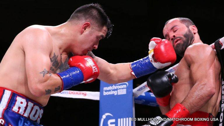 "Brandon Rios - Once a warrior, always a warrior. Former WBA lightweight king Brandon Rios showed last night how he is not quite finished just yet. ""Bam Bam"" put on a relentless performance in stopping Ramon Alvarez, brother of middleweight champ Canelo Alvarez, scoring an entertaining ninth-round TKO. Now 35-4-1(26), Rios had his first fight under new promoter Eddie Hearn. Alvarez, who had won his last three, falls to 27-7-3(16)."