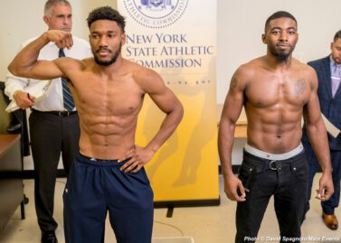 """Sullivan Barrera - Today at Mendez Boxing in Manhattan, Sullivan Barrera (21-2, 14 KOs) and """"Irish"""" Seanie Monaghan (29-1, 17 KOs) addressed the media and faced off in advance of their Saturday, November 3 showdown on Golden Boy Fight Night on Facebook Watch live from the Aviator in Brooklyn. Below are quotes and photos from the event:"""