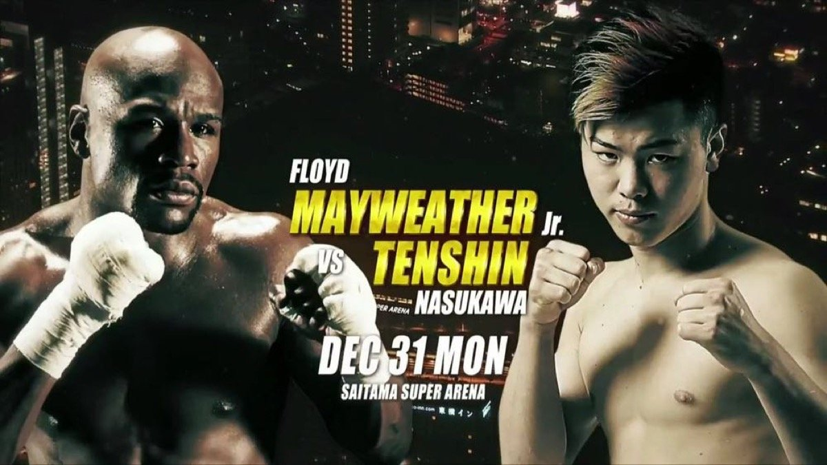 "Floyd Mayweather Jr - Undefeated boxing legend Floyd ""Money"" Mayweather and sensational RIZIN Fighting Federation star Tenshin Nasukawa will battle in a special exhibition fight on New Year's Eve from Saitama Prefecture Super Arena in Saitama, Japan."