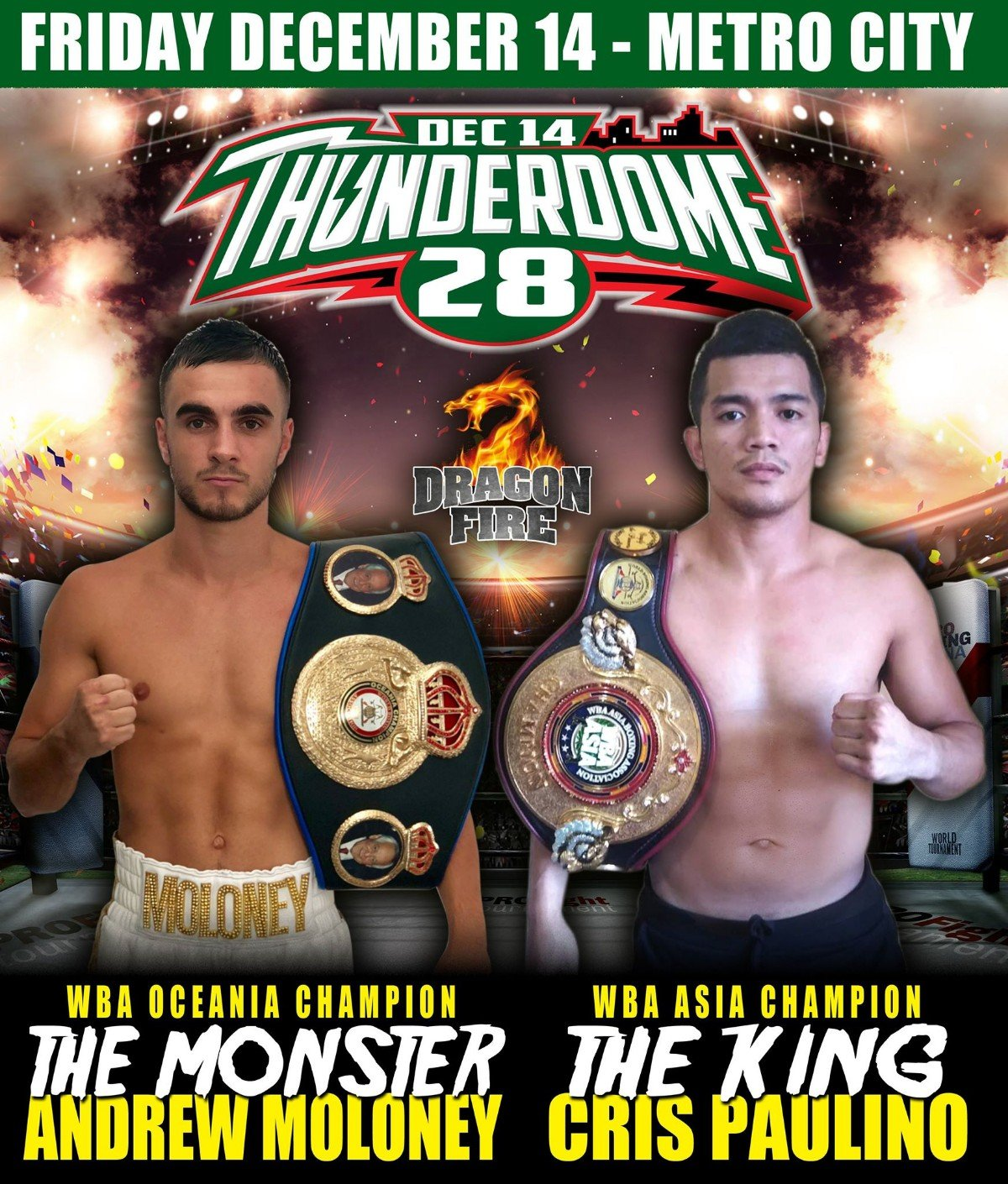 """Andrew Moloney - WBA #4, WBC #4 , WBO #9 IBF #11, Undefeated Andrew """"The Monster"""" Moloney (18 – 0) returns to the ring for his final outing of 2018."""