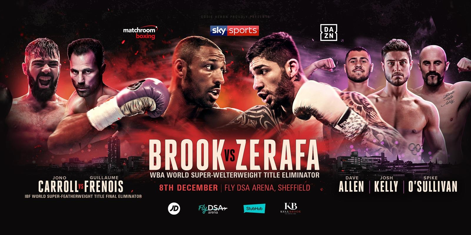 Michael Zerafa - Weights from Sheffield: Kell Brook: 150.6lbs vs Michael Zerafa: 153.5lbs