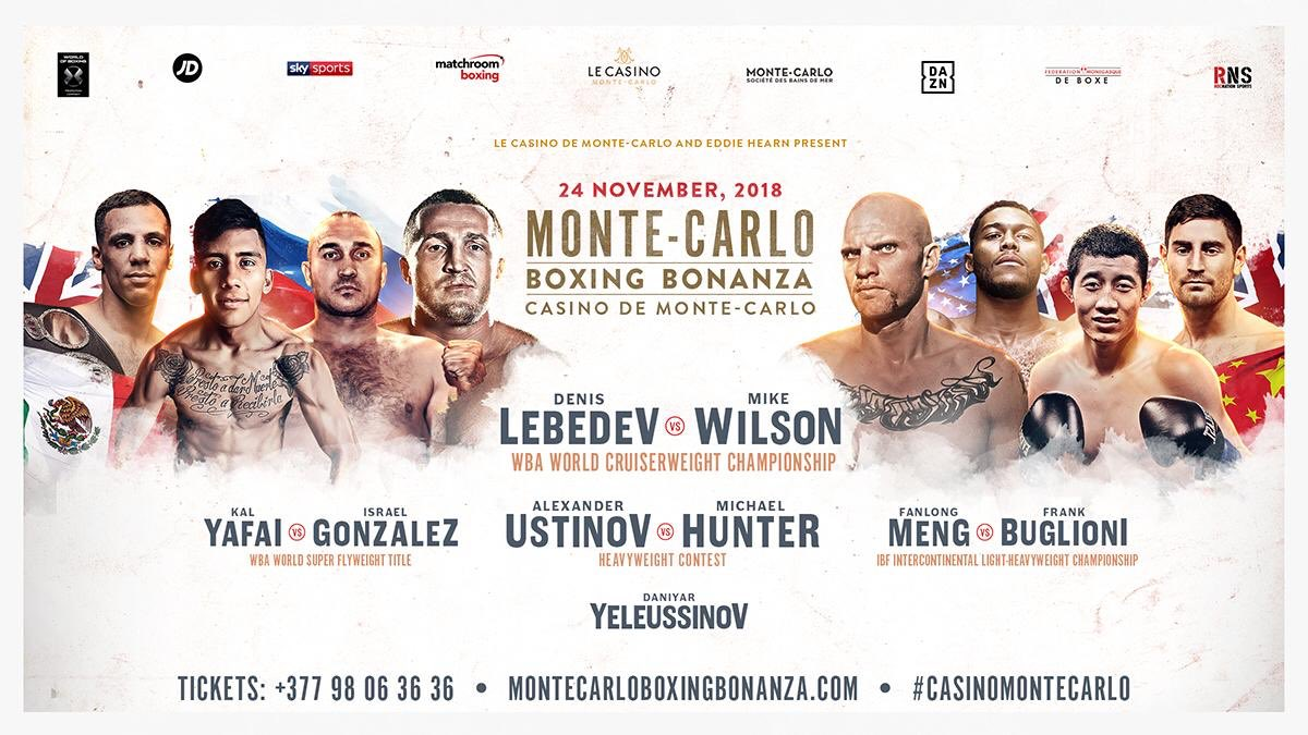Denis Lebedev - Eddie Hearn's latest fight card in Monaco comes this Saturday and it could prove to be a fun night of fights. WBA super-flyweight champ Kal Yafai, one of the most underrated lower weight boxers around today, makes the fourth defence of his title, against Israel Gonzalez of Mexico. Britain's Yafai, 24-0(15) has enjoyed a near two-year reign and he is in no mood to lose out on the big fights he wants now.