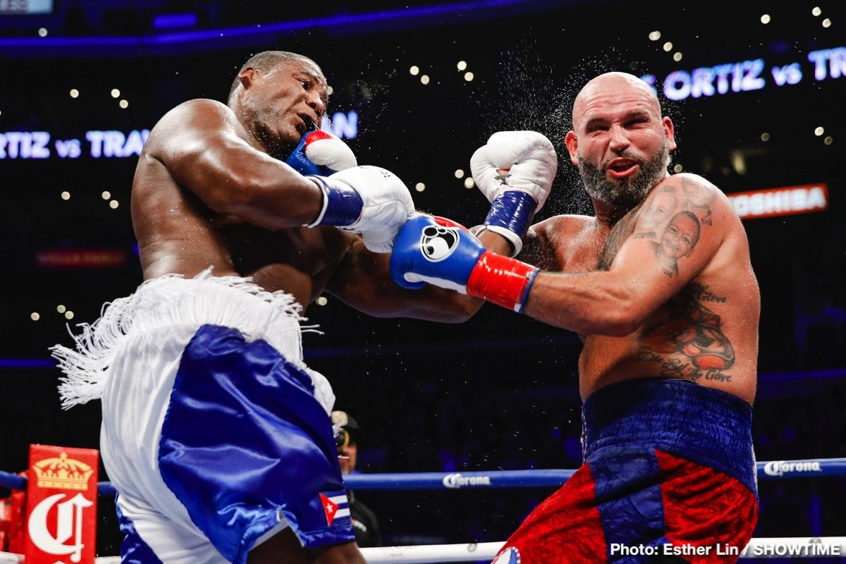 """Travis Kauffman - Former Wilder foe and heavyweight southpaw Luis """"The Real King Kong"""" Ortiz (30-1, 26 KOs) returned to STAPLES Center for a second consecutive victory with a resounding 10th-round TKO against Travis """"My Time"""" Kauffman (32-3, 23 KOs) of Reading, Pa."""