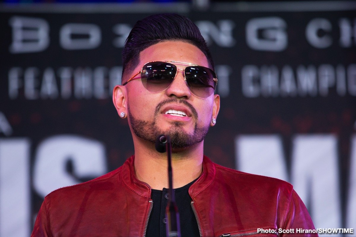Abner Mares - The career of warrior Abner Mares could possibly be over. As picked up by BadLeftHook, Mares, who recently pulled out of his scheduled fight with the unbeaten Gervonta Davis (officially with a bad elbow) has had emergency surgery on a detached retina in his right eye. The former three-weight champ suffered a detached retina in his left eye earlier in his career and he is of course hoping he will heal again and be able to resume his career once again. However, as he said to Kate Abdo of Fox Sports: PBC, Mares will call it a career if the doctors advice him to do so.
