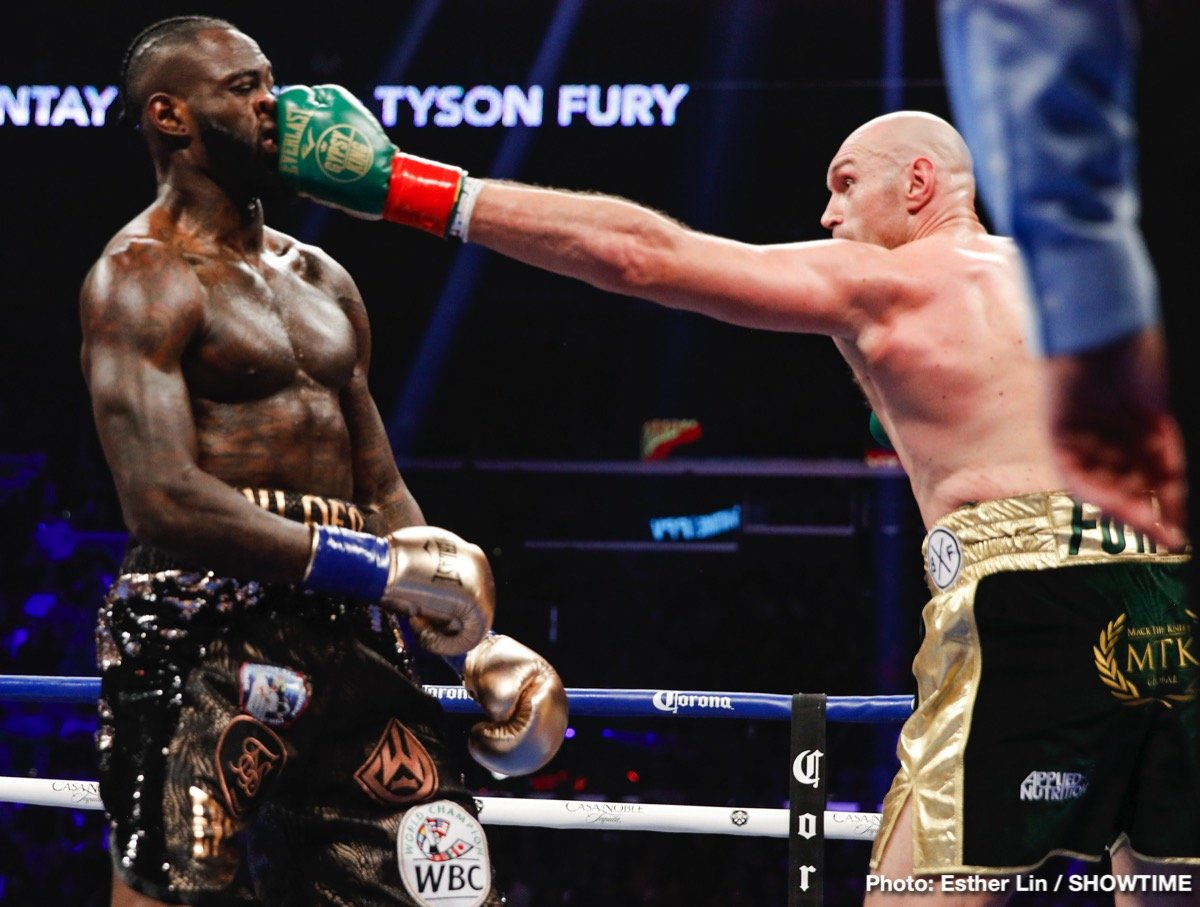 Deontay Wilder, Tyson Fury - The heavyweight battle between rival, unbeaten champions Deontay Wilder and Tyson Fury sure delivered in terms of terrific action, and it looks as though the fight was a big hit in terms of Pay-Per-View buys. As per a news story from RingTV.com, the fight is expected to be confirmed as a 300,000 success. These numbers, still to be tallied and confirmed, do not include UK Pay-Per-View buys.