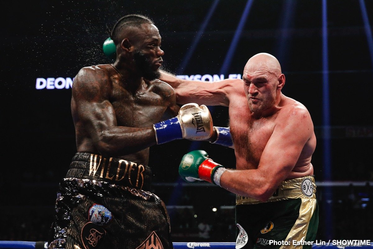 Deontay Wilder Tyson Fury Boxing News British Boxing