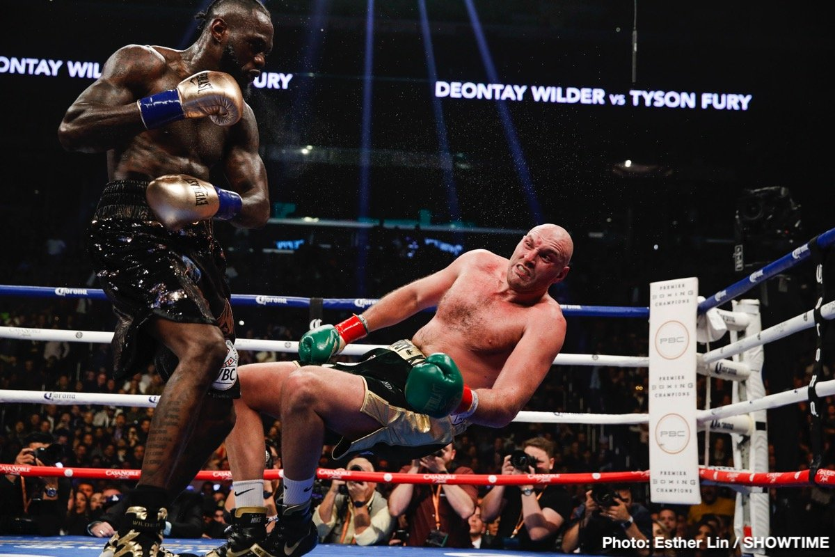 "Deontay Wilder, George Foreman - Like all of us, heavyweight legend ""Big"" George Foreman has been impressed by the amazing punching power of ruling WBC heavyweight champ Deontay Wilder. But Foreman, who some experts say is THE hardest punching big man in the history of the sport of boxing (others pointing to Earnie Shavers, others still to Sonny Liston or Rocky Marciano), has yet to be convinced that Wilder, 42-0-1(41) ranks as the absolute best puncher in the history of the heavyweights."