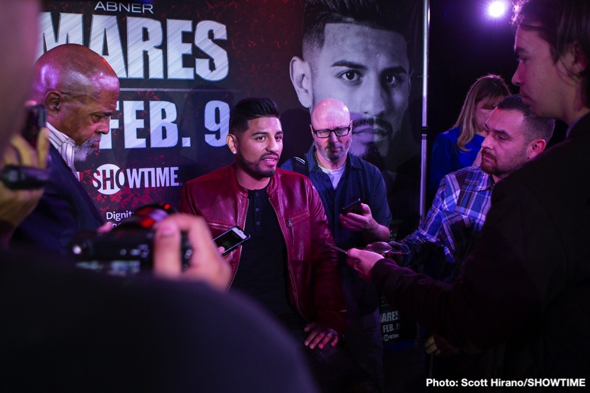 "Abner Mares, Gervonta ""Tank"" Davis - Three-division, four-time champion Abner Mares has been forced to pull out of the WBA Super Featherweight title match against two-time super featherweight champion Gervonta Davis on Saturday, February 9 after suffering an injury while training."