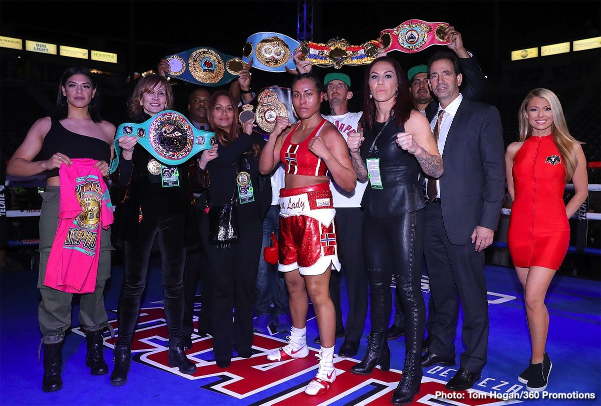 Cecilia Braekhus - As HBO celebrated their 45-year history of boxing telecasts, 'The First Lady' Cecilia Braekhus improved to 35-0 with nine knockouts with a ten-round unanimous decision over Aleksandra Magdziak-Lopes, (18-5-3, 1 KO), in the main event of HBO Boxing After Dark at StubHub Center in Carson, CA presented by Tom Loeffler's 360 Promotions.