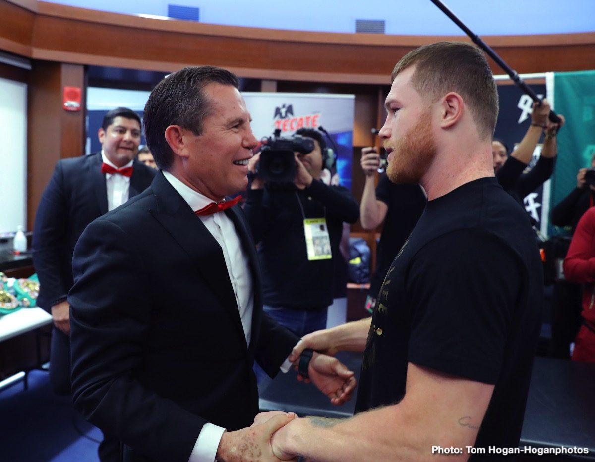 "Oscar De La Hoya Saul ""Canelo"" Alvarez Boxing News"