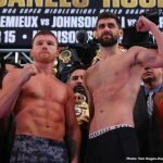 Tureano Johnson - WBC, WBA, Lineal and Ring Magazine Middleweight World Champion Canelo Alvarez and WBA Super Middleweight World Champion Rocky Fielding made their grand arrivals today at the Ainsworth Chelsea in New York City ahead of their 12-round super middleweight fight. The battle will take place on Saturday, December 15 at Madison Square Garden in New York City and will be streamed live on DAZN - which, at just $9.99 per month after a one-month free trial, means new subscribers to DAZN will enjoy the entire Canelo vs. Rocky fight night for free.