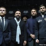 Rocky Fielding - The date of May 4th, 2019 has been reserved for Mexican star Canelo Alvarez' next fight, to take place at The T-Mobile Arena in Las Vegas. That weekend is of course Cinco de Mayo, so it will be a huge event when Canelo fights. Providing the reigning middleweight champ gets past Rocky Fielding in his foray into the 168 pound weight division tomorrow night, and suffers no injuries that could serve to keep him out of action for anything approaching a significant amount of time, the May 4 fight will be on.