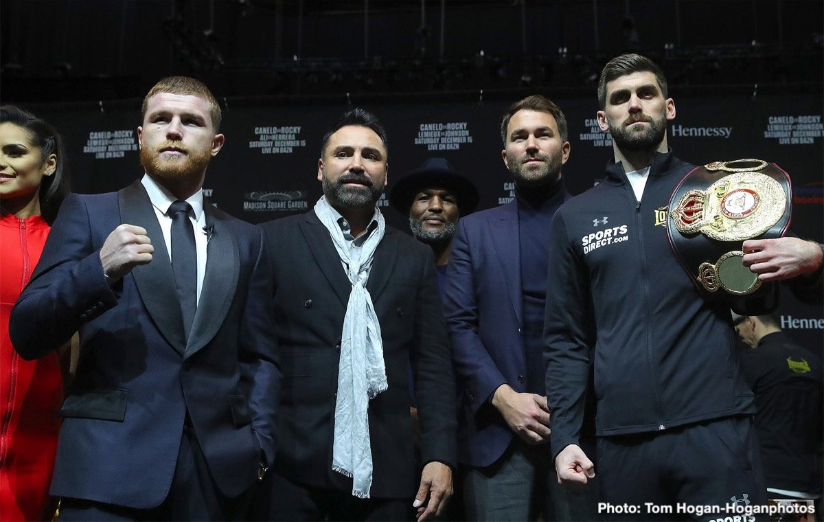 The date of May 4th, 2019 has been reserved for Mexican star Canelo Alvarez' next fight, to take place at The T-Mobile Arena in Las Vegas. That weekend is of course Cinco de Mayo, so it will be a huge event when Canelo fights. Providing the reigning middleweight champ gets past Rocky Fielding in his foray into the 168 pound weight division tomorrow night, and suffers no injuries that could serve to keep him out of action for anything approaching a significant amount of time, the May 4 fight will be on.